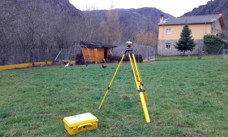 Levantamiento topográfico GPS en León